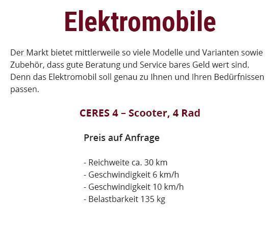 Elektromobile aus 74906 Bad Rappenau